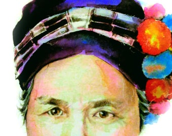 Custom Watercolor Portrait, Painting, Original