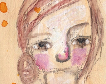 """Free to be Me, an original 4x6"""" Nixie painting"""