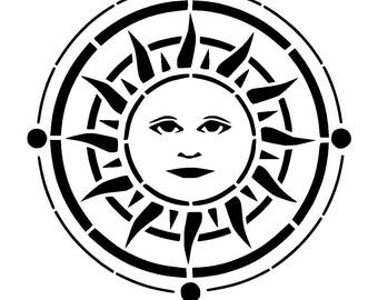 """6/6"""" Sun disc stencil."""