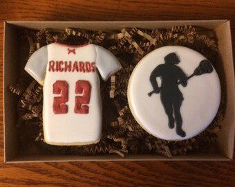 customized sports decorated cookie set