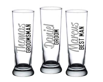 1 Personalized Groomsmen Mugs, Groomsmen Beer Mugs, Grooms Mug, Groomsmen Gift, Best Man Gift