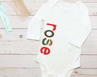 Baby first christmas etsy baby first christmas 1st christmas christmas outfit holiday outfit name onesie negle Choice Image