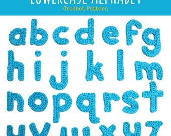 Lowercase Alphabet Crochet Motifs Pattern - PDF Digitial Download