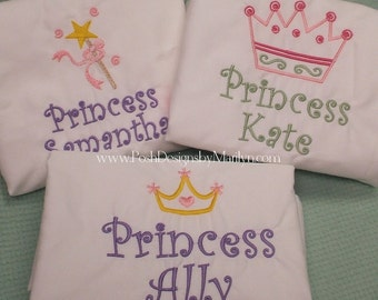 Monogrammed Princess Pillowcase