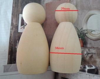 """4Pcs 86x29mm(3 2/5""""X 2 1/6"""") unfinished wood peg doll Wood Figures   (  W562)"""