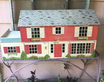 "Fabulous ""Marx"" Tin Dollhouse"