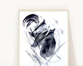 Black and White Art, Minimalist Art, Abstract Art Print, Printable Art, Modern Wall Art, Instant Download, Wall Decor, Black Abstract