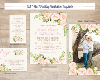 Flower wedding psd Etsy