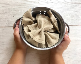 Farfalle Pasta Bows Pretend Play Felt Food with Packaging Gift Box