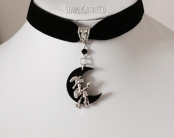 Gothic Witches Flight Choker