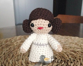 Princess Leia Inspired Amigurumi doll- MADE to ORDER- Star Wars Inspired dolls