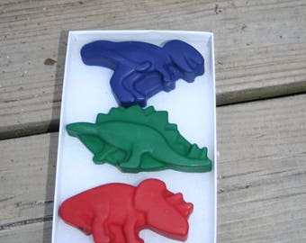 Dinosaur Crayons - Stocking stuffer for kids - Dinosaur Party Favors - Classroom Crayons - Crayons for kids - Kid Unique Party Favor
