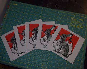 hare risograph print