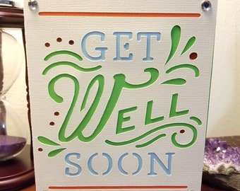 Handmade Card - Get Well Soon - A6 - with Envelope