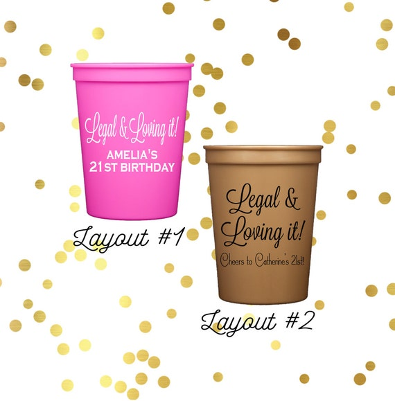 personalized birthday cups party cups personalized stadium cups 21st birthday cups 30th birthday cups 40th birthday cups from SequinsAndLipstick on ...  sc 1 st  Etsy Studio & personalized birthday cups party cups personalized stadium cups ...