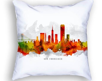 San Francisco California Pillow, San Francisco Skyline, San Francisco Cityscape, 18x18, Cushion, Home Decor, Gift Idea, Pillow Case 15
