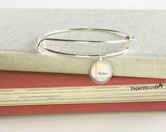 Author Bracelet - Writer Charm Bracelet - Author Charm Bracelet - Storyteller Bracelet - Gift for Writer  - Author Gift -  (S1888)
