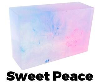 Sweet Peace - Handmade Soap Bar (sweet pea scent) //vegan, made in Canada//