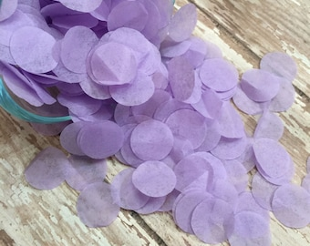 Purple circle confetti, baby girl shower, 1st birthday party, gender reveal decor, table decor, tissue paper confetti, circle dot confetti