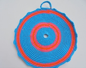 Crocheted Pot Holder, handmade item, cotton, colourful, decorating and using accessory, Home and Living, Kitchen Décor, Kitchen and Dining,