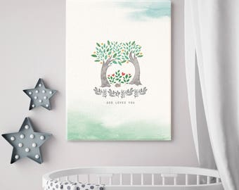 God Loves You Canvas Print_Two Trees