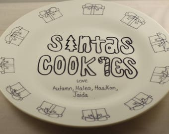 Dishes( color your own santa dish) 4 different ones to choose from