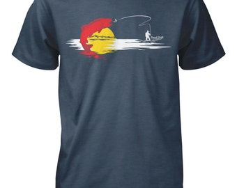 Colorado Flag Fishing Shirt Fly Fishing Shirt, Fly Fishing Gifts, Fly Fishing, Fishing, Fishing Art,