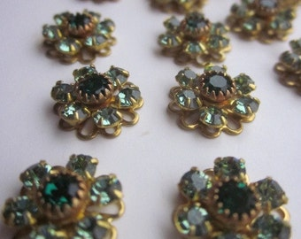 Delightful, Delicious, De-lovely Vintage Swarovski Emerald Crystal Flowers