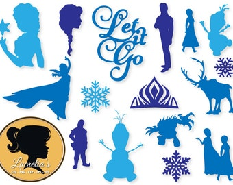 Frozen, dxf, Frozen clipart, SVG files for Silhouette Cameo or Cricut, Frozen logo, Frozen vector, svg, dxf eps