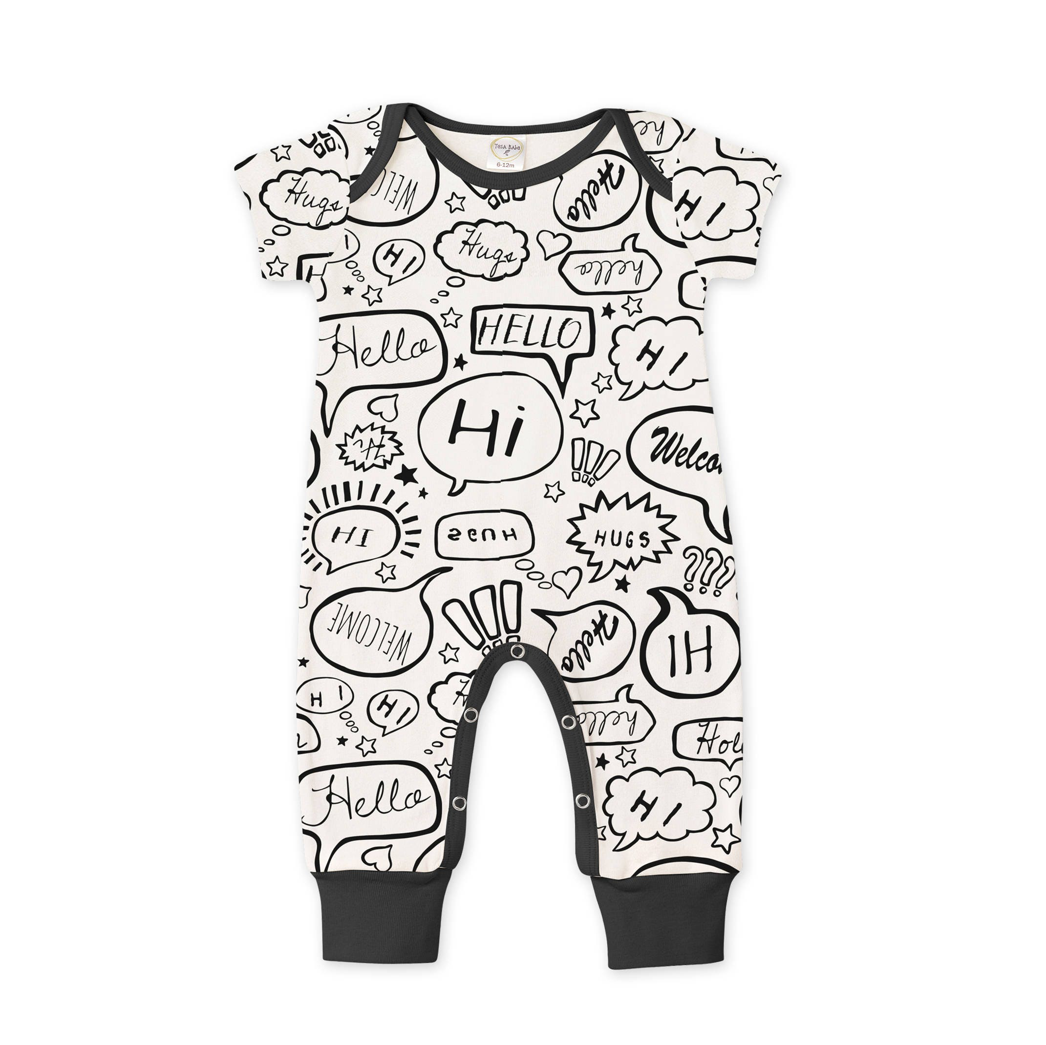 WINTER SALE Newborn Baby Black White ing Home Outfit Summer