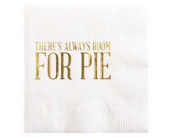 Action de grâces à Dessert serviettes serviettes - tarte à la serviette de table - feuille d'or