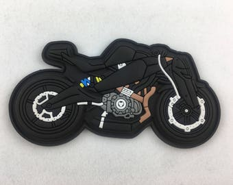 Racing Motorcycle 3D PVC Morale Patch