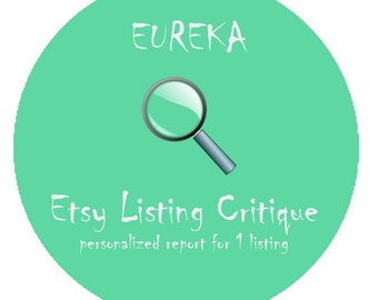 Etsy Listing Critique - Personalized Analysis Etsy Product Review Evaluation - 1 Listing