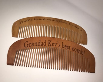 Personalised wooden comb