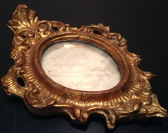 RESERVED FOR JOANN Vintage gilded Florentine mirror - small size