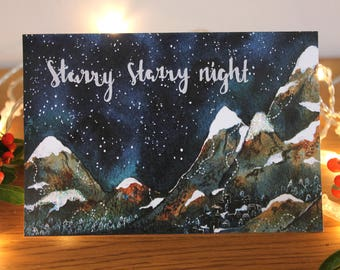 Christmas Greetings Card- 'Starry Starry Night'