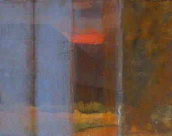 Still There ~ Original Contemporary Abstract Landscape Painting