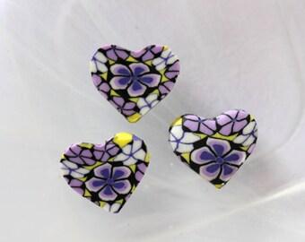 Pearl purple polymer heart