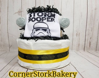 Star Wars Diaper Cake| Star Wars Centerpiece| Star Wars Baby Shower| Star Wars Baby Gift| Diaper Cake| Baby Shower Gifts| Daddy to Be Gift