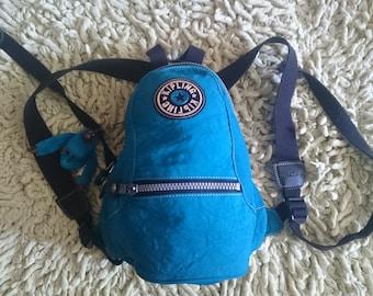 """Kipling vintage Teal/Turquoise """"Tasha"""" small backpack"""