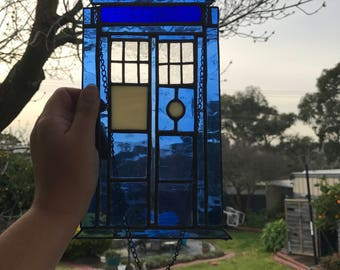 Doctor Who Tardis Stained Glass