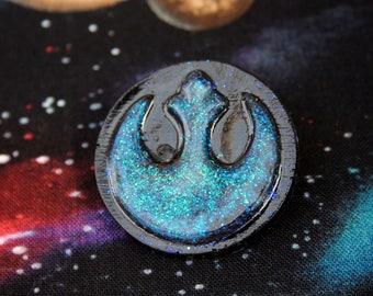 Opal Effect Resin Glitter Resistace Pin