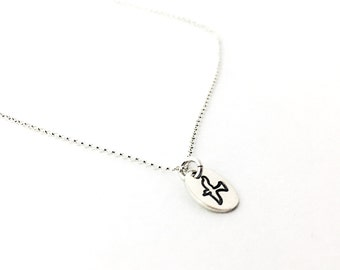 Sterling Silver Dove Necklace - Peace Dove Necklace - Graduation Gift - Dainty Necklace - Bird Necklace - Simple Necklace -Hand Stamped