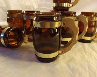 ONE SINGLE Vintage Clear Brown Glass Siesta Ware Mug