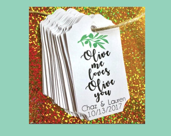 Olive me loves olive you, bridal shower, weddings, wedding shower, bachelorette party, party favors, favor tales