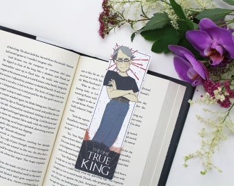 Stephen King - bookmark || gift for book lovers, horror king, stephen king quote, bookworm, book quote, page clips, gifts for readers