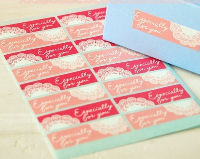 Lace Pink Especially For You Stickers