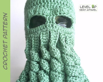 Cthulhu hat CROCHET PATTERN || 3 sizes || Instant Download