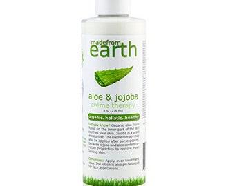 Organic Aloe Vera Lotion - with Vitamin C & Organic Jojoba