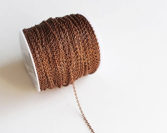 330ft Copper Cable Chain Spool - 2x3mm - 100M - Ships IMMEDIATELY from California - CH596